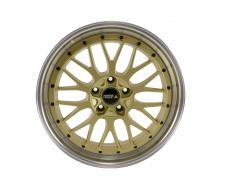 Twin-Monotube Vintage Felge 9x20 Zoll gold poliert